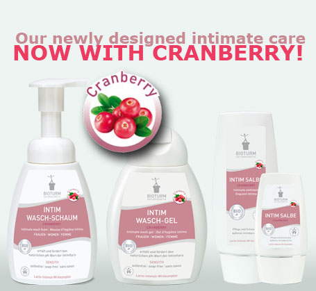 The new intimate care with cranberry!