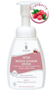 Naturkosmetik Intimate wash foam cranberry No.90